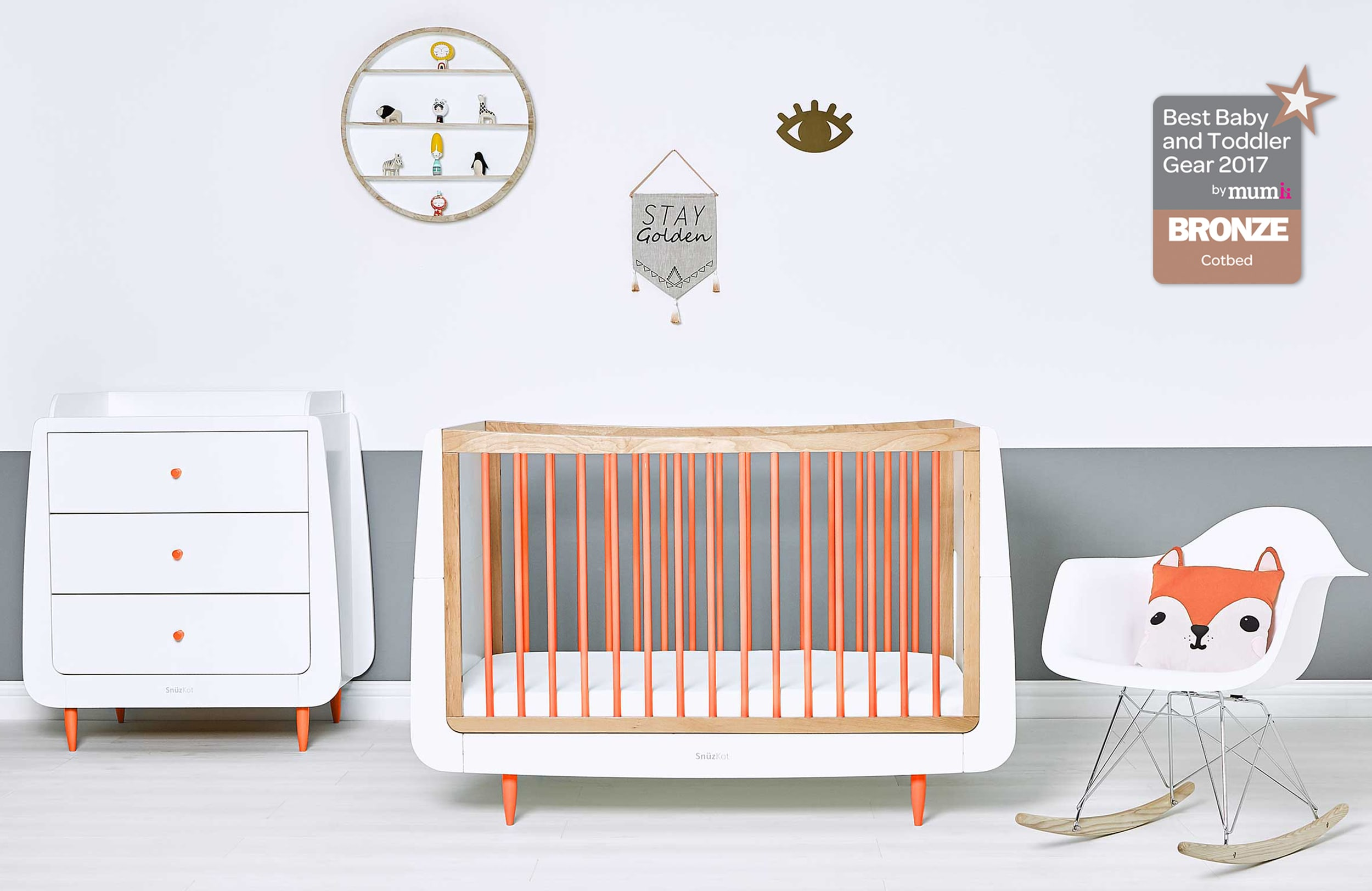 whitegrey tribeca room jpma baby by bed zone into grey in products white scene powered crib turns safety