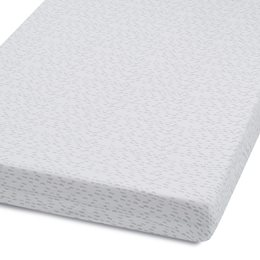 Cot & Cot Bed Fitted Sheet – Wave Mono - Dash