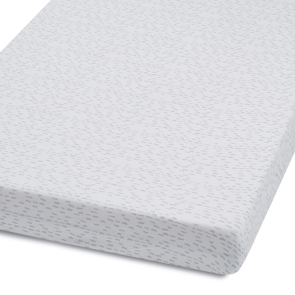 Cot U0026 Cot Bed Fitted Sheet In Wave Mono Dash | Snuz | Snüz