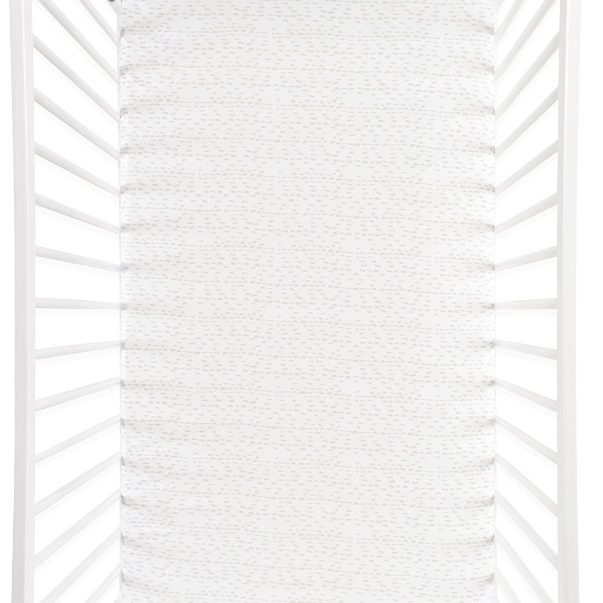 Cot Amp Cot Bed Fitted Sheet In Wave Mono Dash Snuz Sn 252 Z