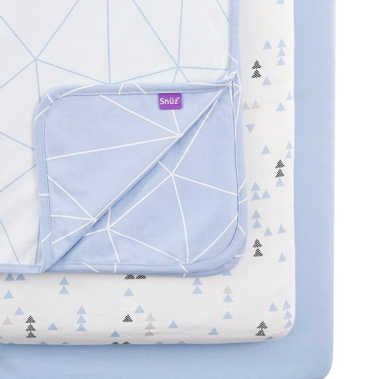 3pc Crib Bedding Set – Geo Breeze
