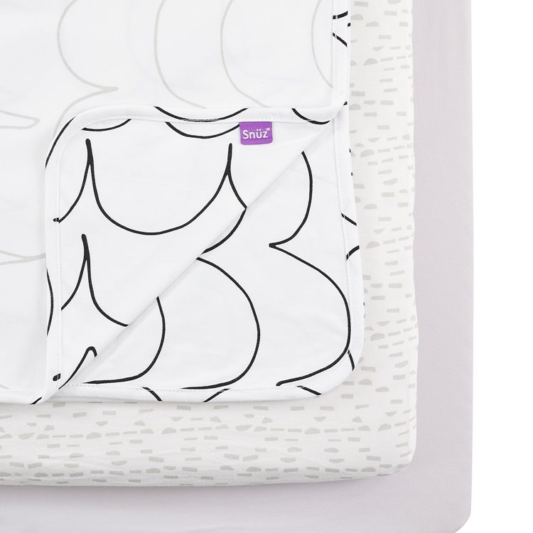 3pc Crib Bedding Set – Wave Mono