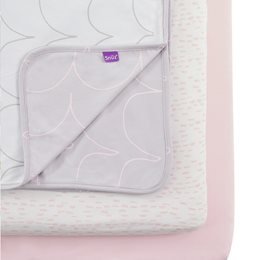 3pc Crib Bedding Set – Wave Rose