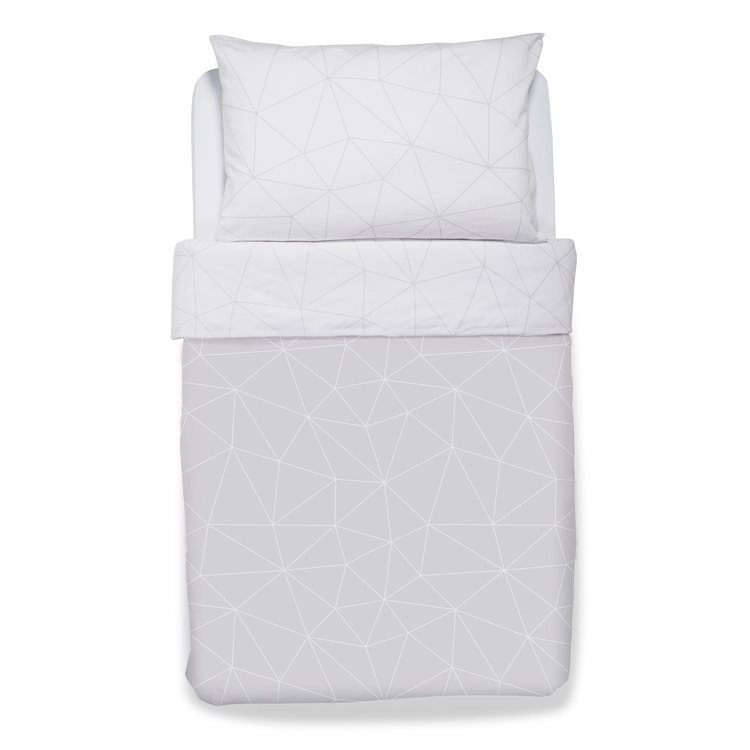 Duvet Cover & Pillowcase set – Geo Mono