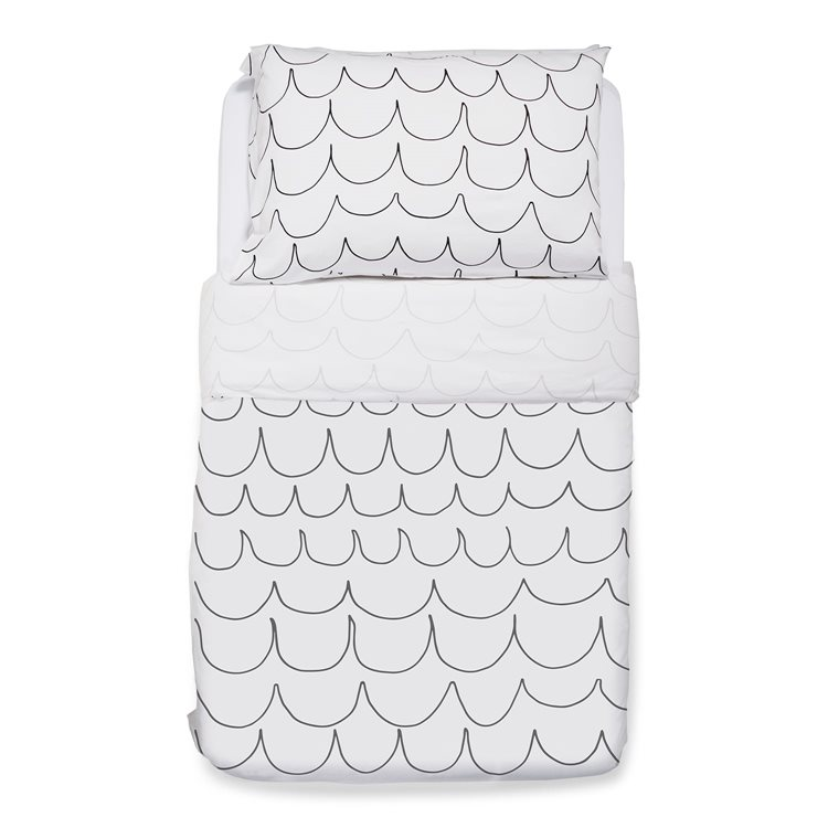 Duvet Cover & Pillowcase set – Wave Mono