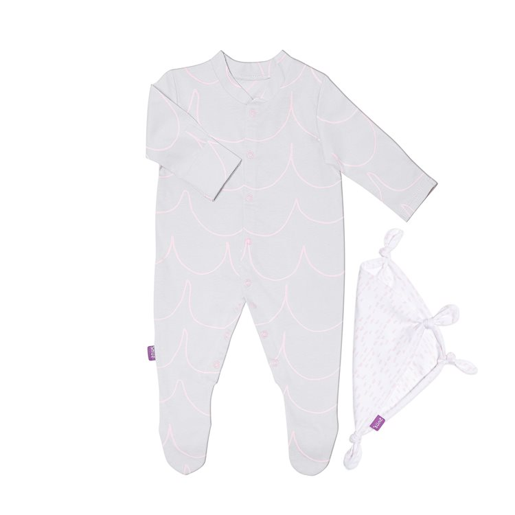 Sleepsuit & Baby Comforter Gift Set - Wave Rose