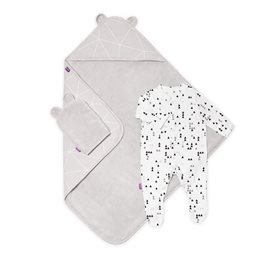 Baby Bath & Bed Set  - Geo Mono