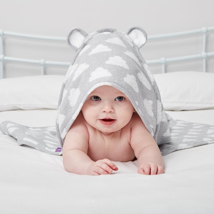 Baby Hooded Towel - Cloud Nine