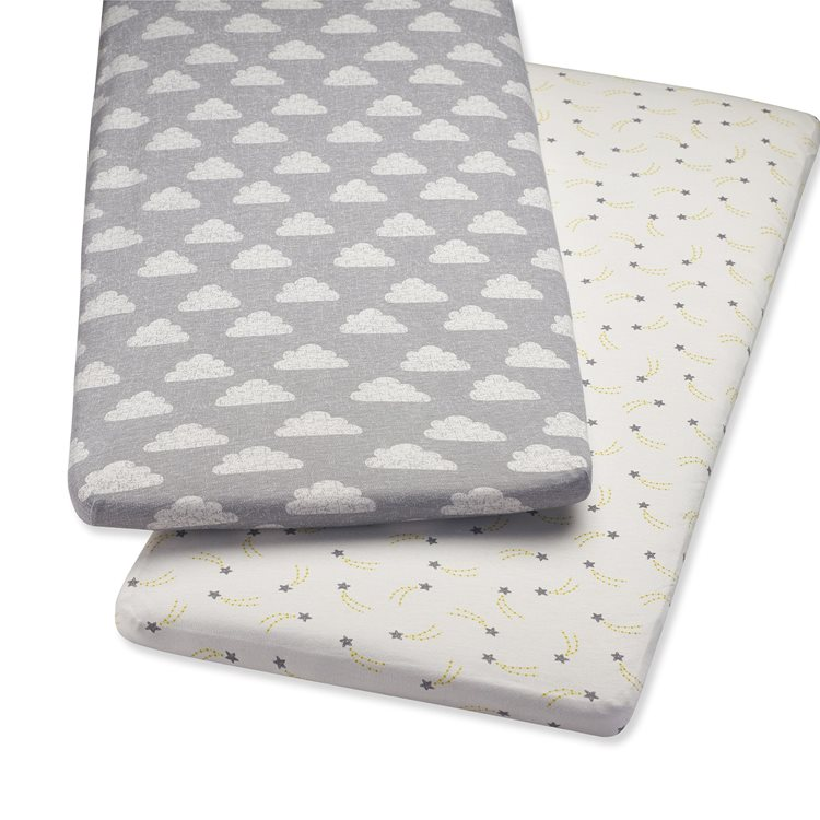 Crib 2 Pack Fitted Sheets – Cloud Nine