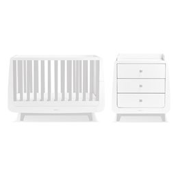 SnuzKot Luxe 2 Piece Nursery Furniture Set Grey
