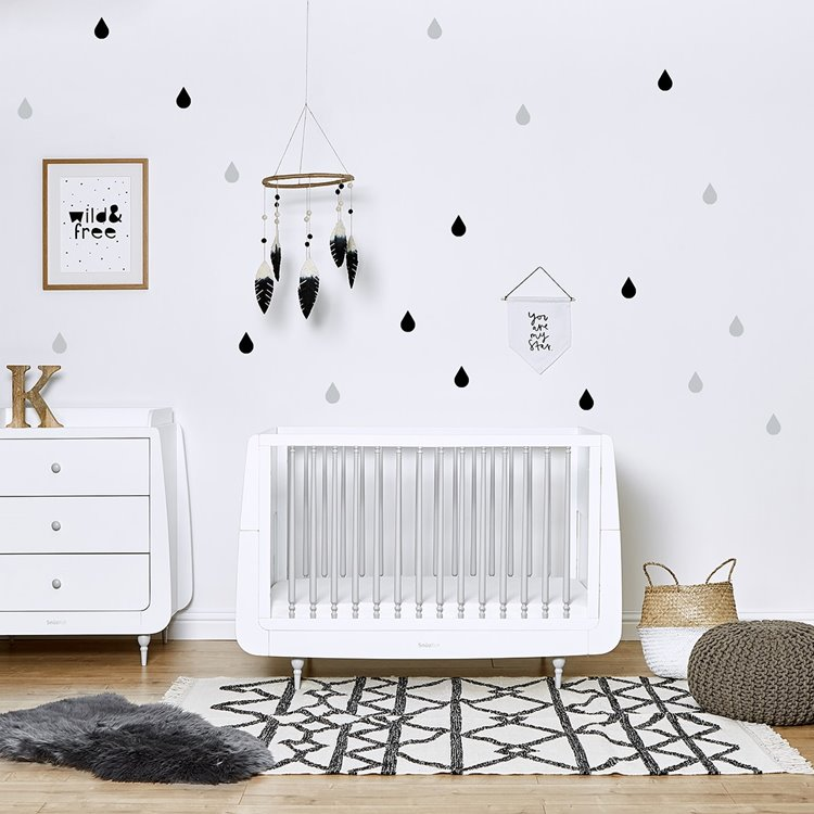 Nursery Wall Stickers Raindrops - Wave Mono