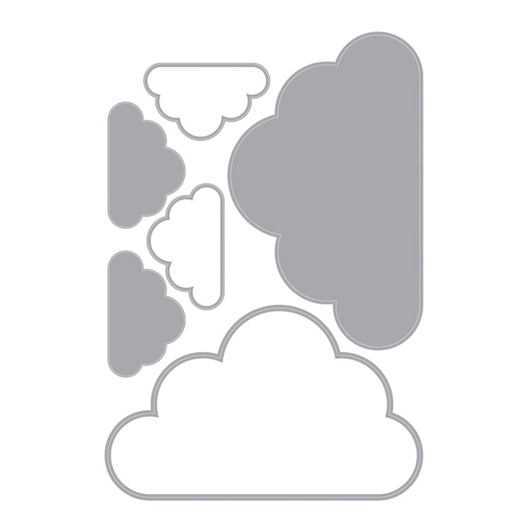 Nursery Wall Stickers Clouds and Stars - Cloud Nine