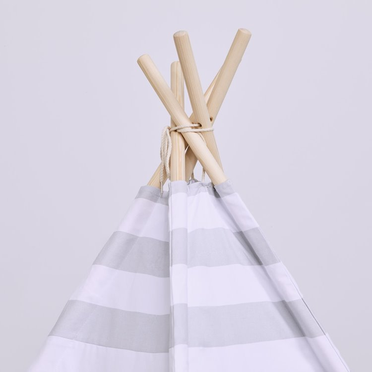 Kids Teepee Play Tent Grey