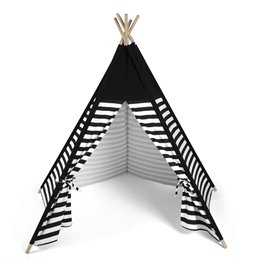 Kids Teepee Play Tent Black