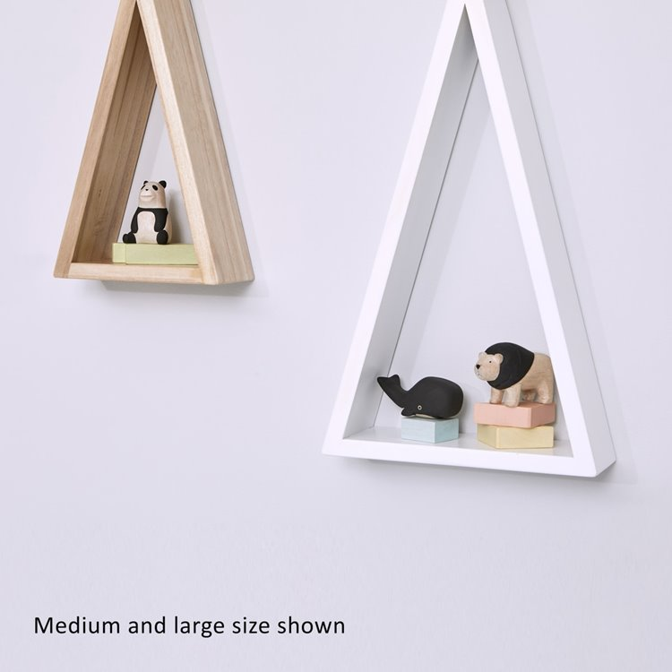 Teepee Shaped Nursery Shelf White