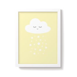 'Cloud' Yellow Nursery Print