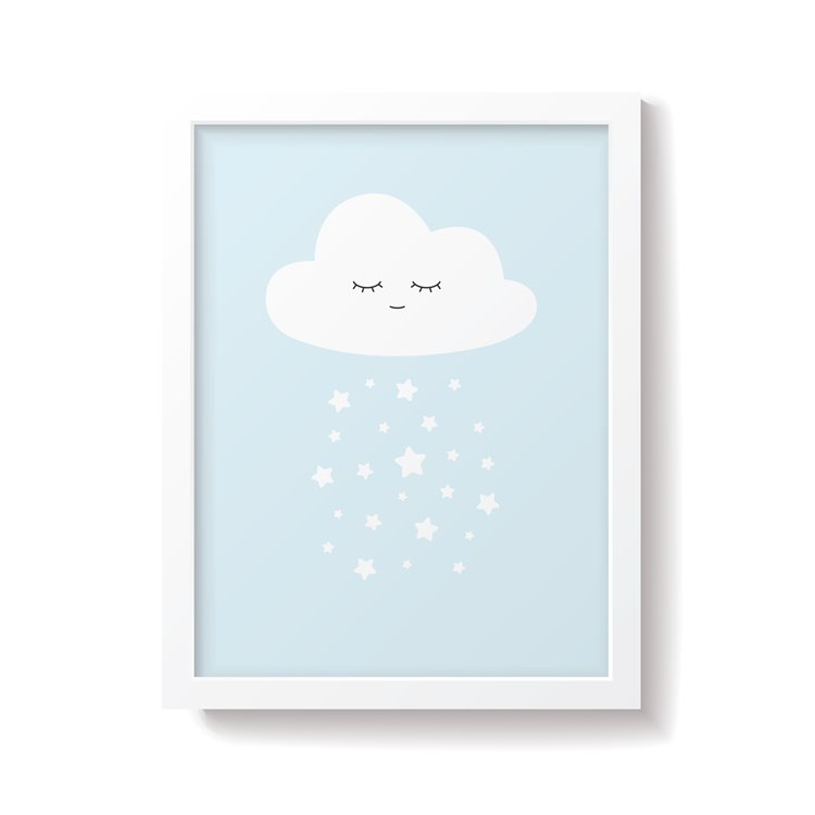 'Cloud' Blue Nursery Print