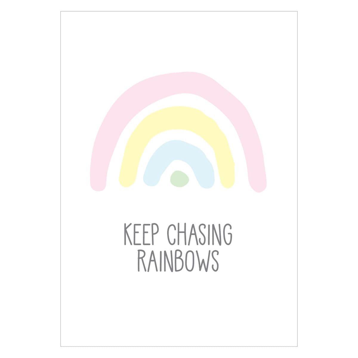 e56a8cdb8 'Keep Chasing Rainbows' Pastel Nursery Print