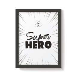 'Superhero' Monochrome Nursery Print