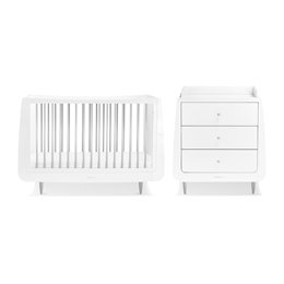 SnuzKot Skandi 2 Piece Nursery Furniture Set Metallics Silver