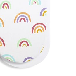 Moses Basket/Pram 2 Pack Fitted Sheets - Colour Rainbow