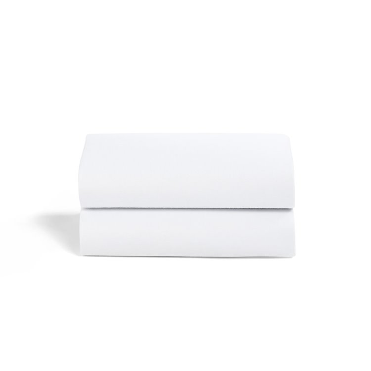 Crib 2 Pack Fitted Sheets - White
