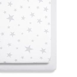 Crib 2 Pack Fitted Sheets - Stars