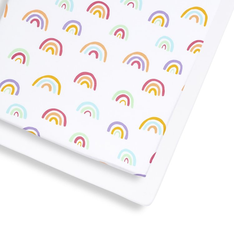 Cot & Cot Bed 2 Pack Fitted Sheet – Colour Rainbow