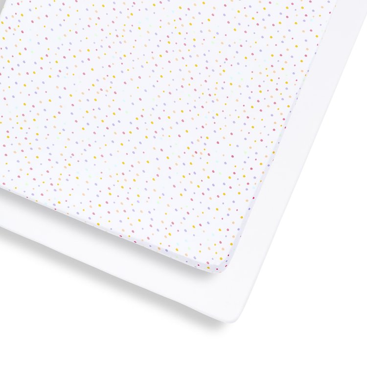 Cot & Cot Bed 2 Pack Fitted Sheet – Colour Spots