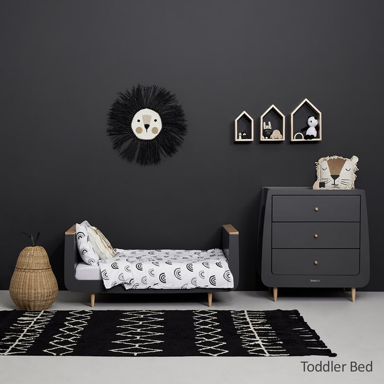 SnuzKot Skandi 2 Piece Nursery Furniture Set Slate