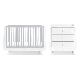 SnuzKot Rococo 2 Piece Nursery Furniture Set Haze Grey