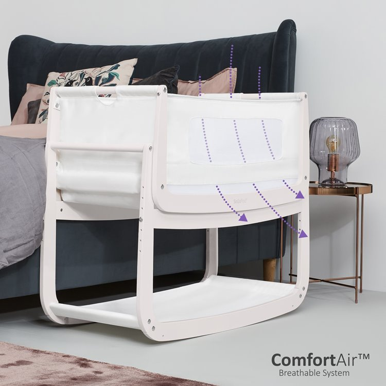 SnuzPod<sup>4</sup> Bedside Crib Rose White