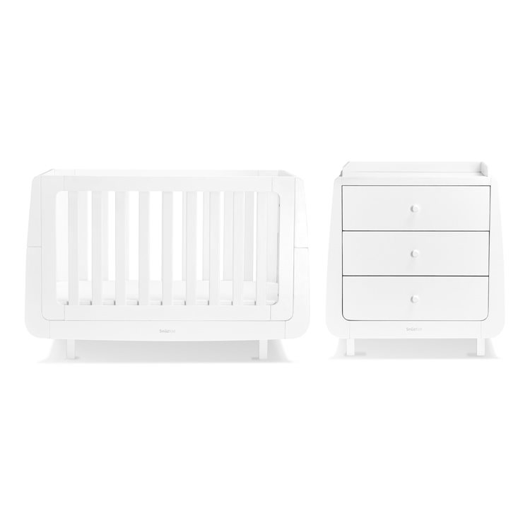 SnuzKot Mode 2 Piece Nursery Furniture Set White (SAVE £50)