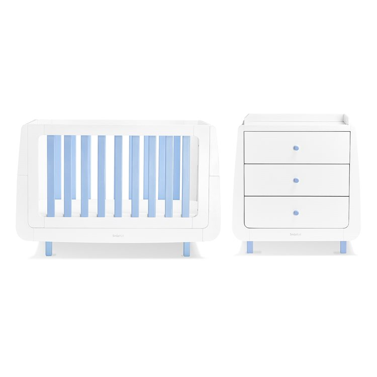 SnuzKot Mode 2 Piece Nursery Furniture Set Blue (SAVE £50)