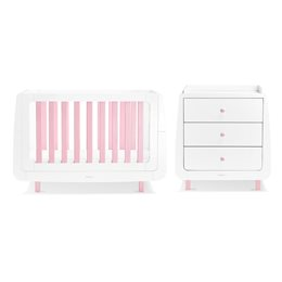 SnuzKot Mode 2 Piece Nursery Furniture Set Pink (SAVE £50)