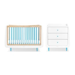 SnuzKot Skandi 2 Piece Nursery Furniture Set Blue