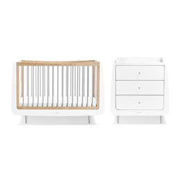 SnuzKot Skandi 2 Piece Nursery Furniture Set Grey (SAVE £50)