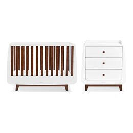 SnuzKot Luxe 2 Piece Nursery Furniture Set Espresso