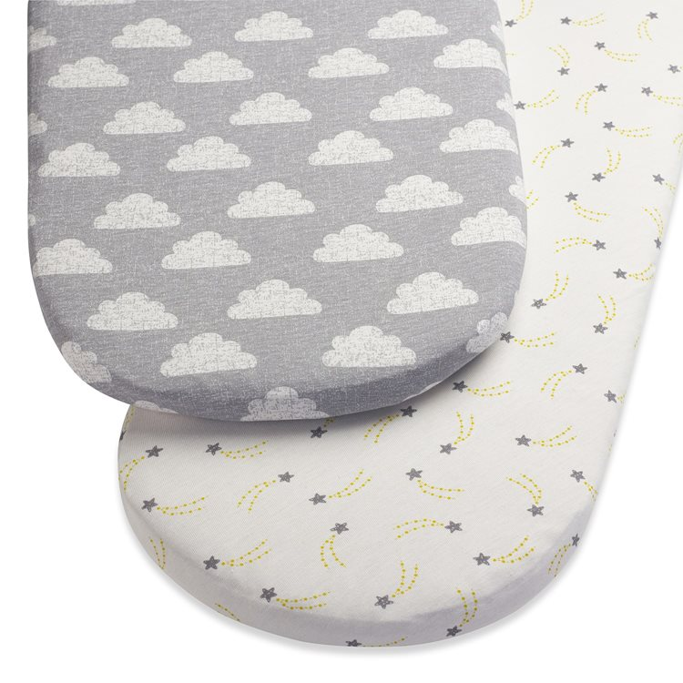 Moses Basket/Pram 2 Pack Fitted Sheets – Cloud Nine