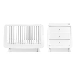 SnuzKot Rococo 2 Piece Nursery Furniture Set Grey (SAVE £50)