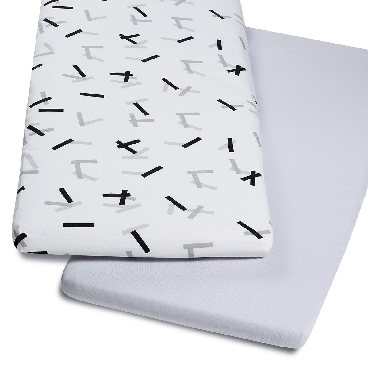 Crib Fitted Sheets In Geo Mono Print Snuz Sn 252 Z