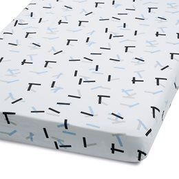 Cot & Cot Bed Fitted Sheet – Geo Breeze – Sprinkle